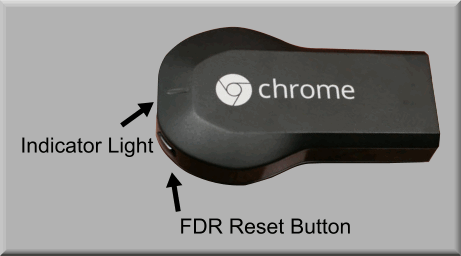 Reset chromecast